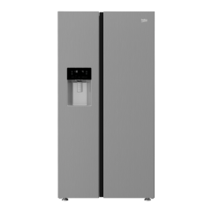 Beko ASFP342PS Side by Side Fridge Freezer (S/Steel)