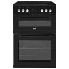 Beko KDC653K 60cm Double Oven Electric Cooker (Black)
