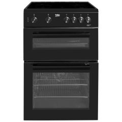 Beko KTC611K 60cm Double Cavity Electric Cooker (Black)