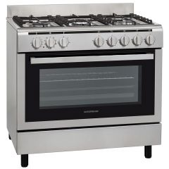 NordMende CSG92IX Single Cavity Dual Fuel Range Cooker (Stainless Steel)