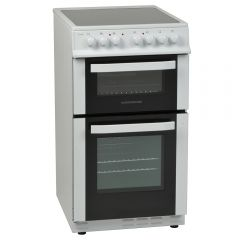NordMende CTEC51WH 50cm Twin Cavity Electric Cooker with Ceramic Hob (White)
