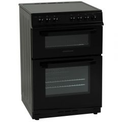 NordMende CTEC61BK 60cm Twin Cavity Electric Cooker with Ceramic Hob (Black)