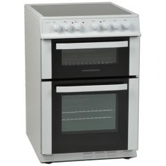 NordMende CTEC61WH 60cm Twin Cavity Electric Cooker with Ceramic Hob (White)