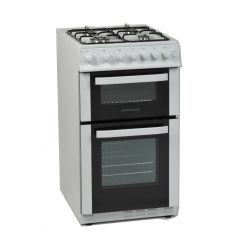 NordMende CTG51WH 50cm Twin Cavity Natural Gas Cooker (White)