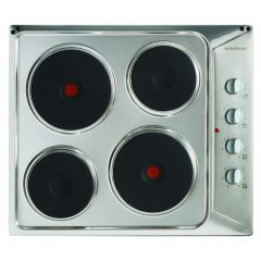 NordMende HE62IX 60cm Solid Plate Hob (Stainless Steel)