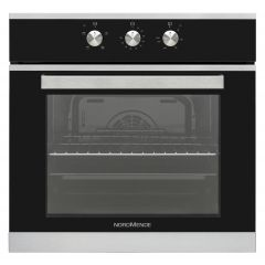 NordMende SO206IX 65 Litre Single Fan Oven and Grill (Black Glass and Stainless Steel)