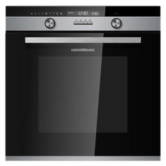 NordMende SOP525IX 70 Litre Multifunction Single Fan Oven (Black Glass and Stainless Steel)