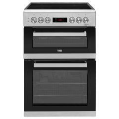 Beko KDC653S 60cm Double Oven Electric Cooker (Silver)