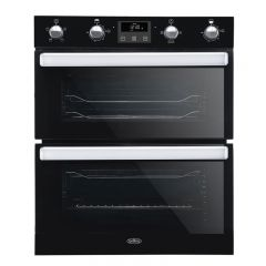Belling BI702FPBLK Double Under Oven Black, 5 Funcs