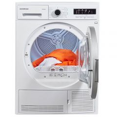 NordMende TDC90WH 9kg B Energy Condenser Tumble Dryer White with Sensor Drying